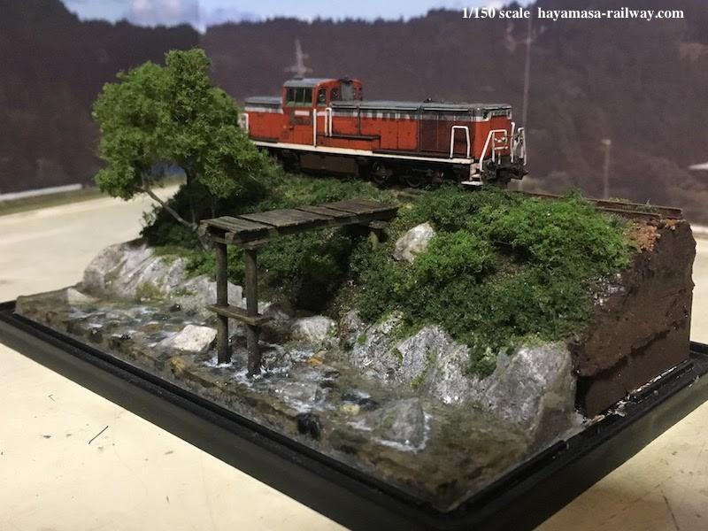 「木橋の架かる里川」全景