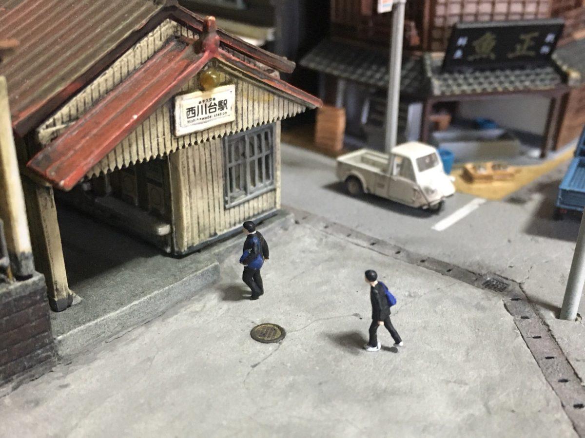 マンホールの製作と駅前の舗装