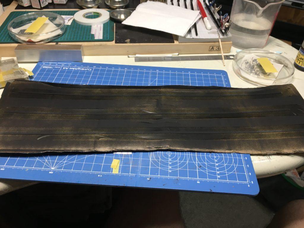 側溝の蓋の塗装2
